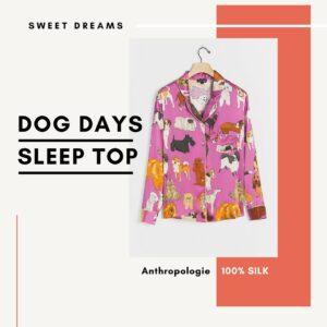 Dog Print Sleep Top